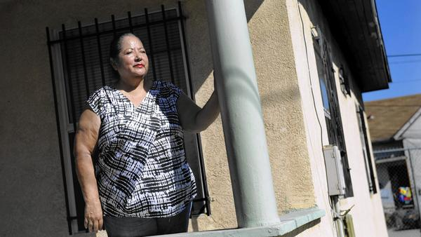 "Boyle Heights For The Times / Christina House Terry Navarro, one of those who received a notice to move out, worries that some of her neighbors will be disqualified from returning to Cielito Lindo because of past credit problems. ""There should be no restrictions,"" she said. ""Just let us come back."""
